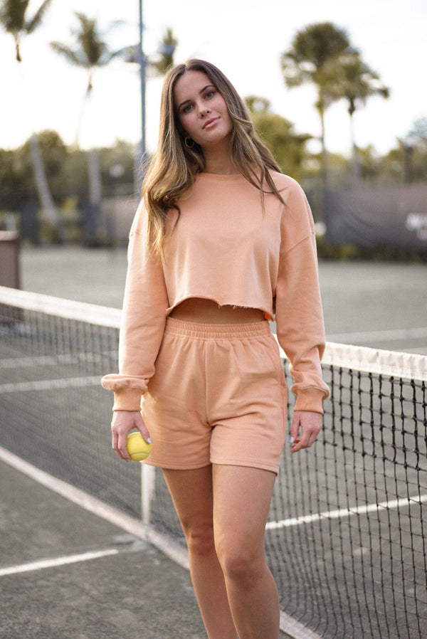 Miranda Sweatshirt Set — Peach