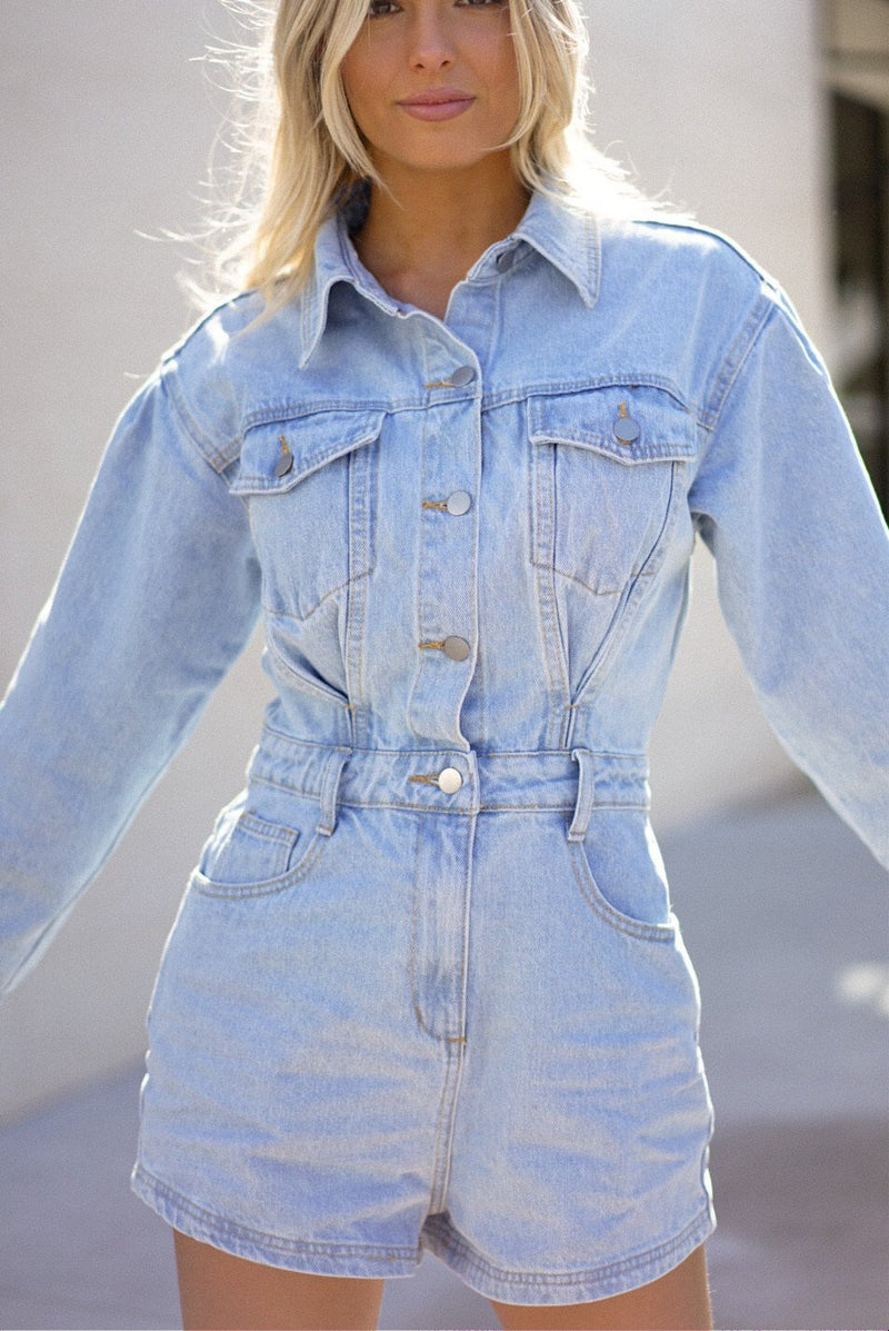 Angelica Denim Romper (Sold Out)