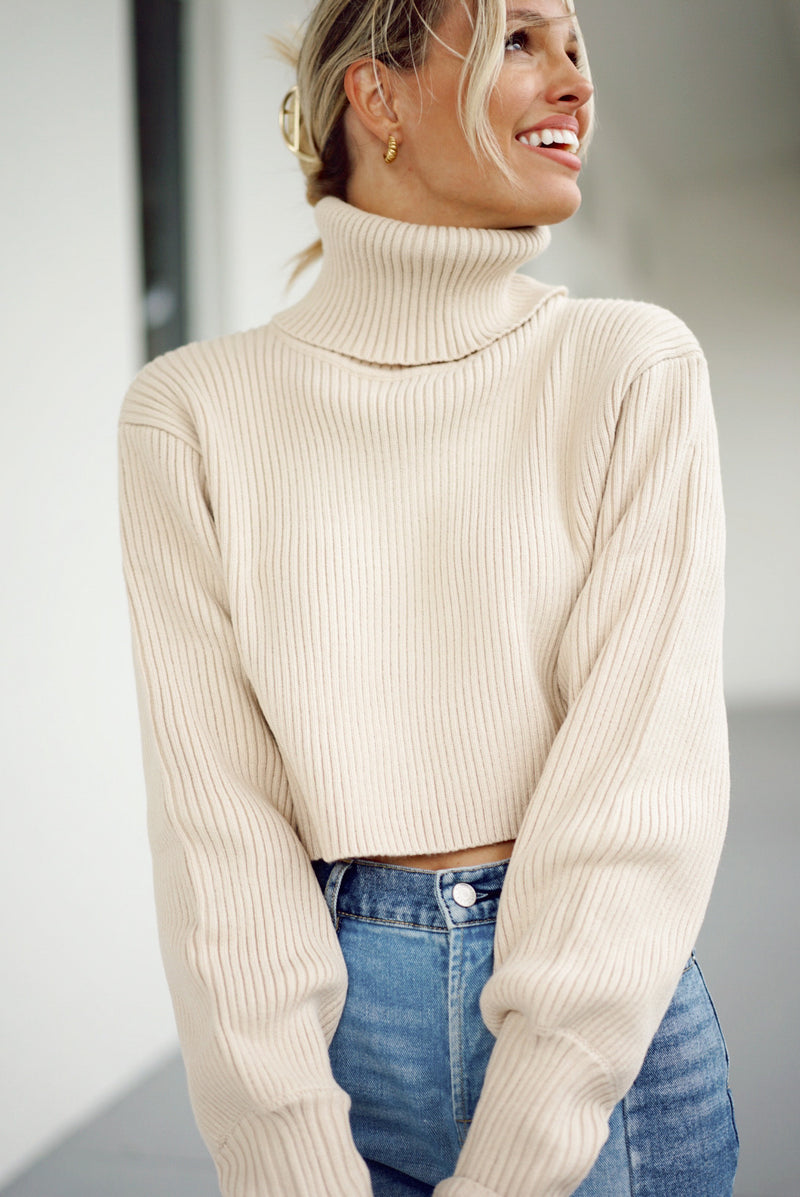 Lisette Sweater — Taupe (Sold Out)