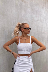 Rosa Knit Top — White