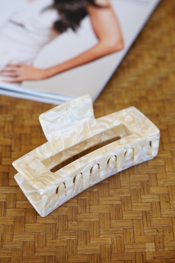 Marula Jaw Clip — Pearl (Sold Out)