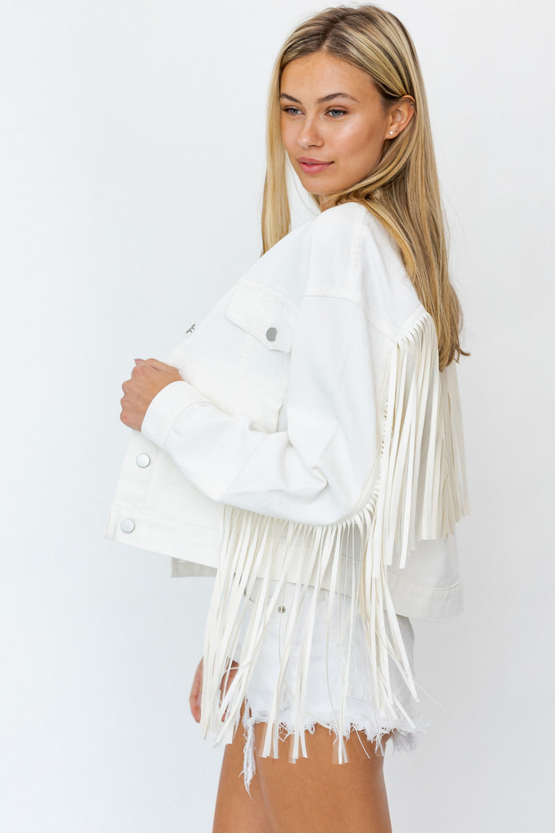 Falon Fringe Denim Jacket (Sold Out)