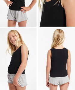 ZSupply Girls Oaklynn Rib Tank - Black
