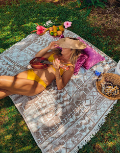 EHA Tiki Turkish Beach Blanket for 2