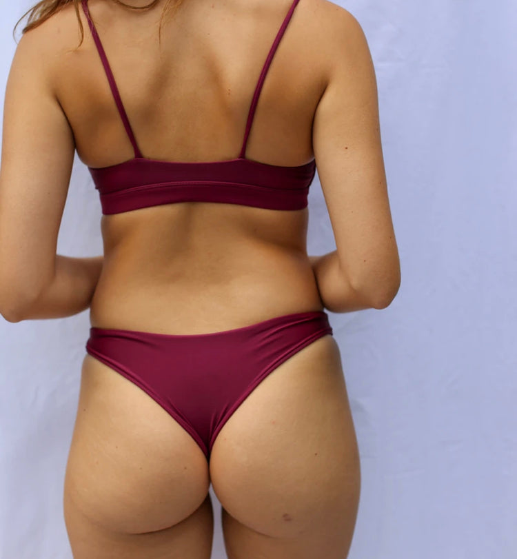 Benoa Hina Bikini Bottom in Wine