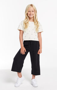 ZSupply Girls Quincy Crop Pant - Black