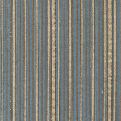 Fortuny Malmaison in Chocolate & Gold Stripe on Slate Blue Custom Decorative Accent Throw Pillow