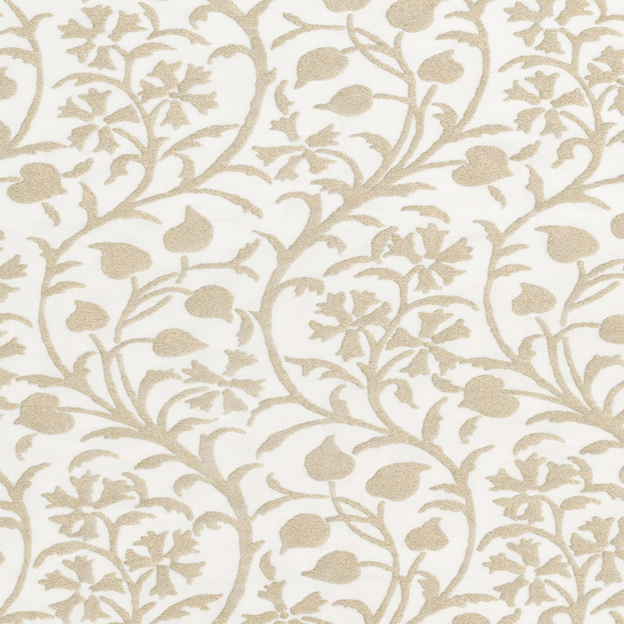 Fortuny Granada in White and Gold by the yard