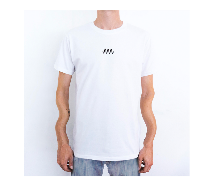 T-Shirt white / black (front an back print)
