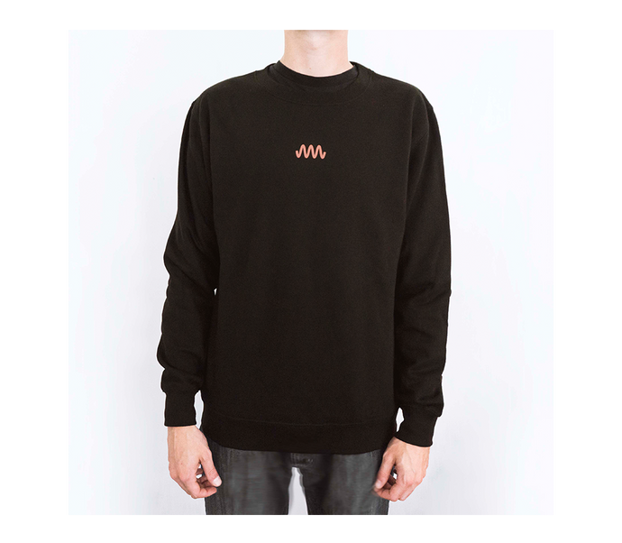 Sweater black / orange (front an back print)