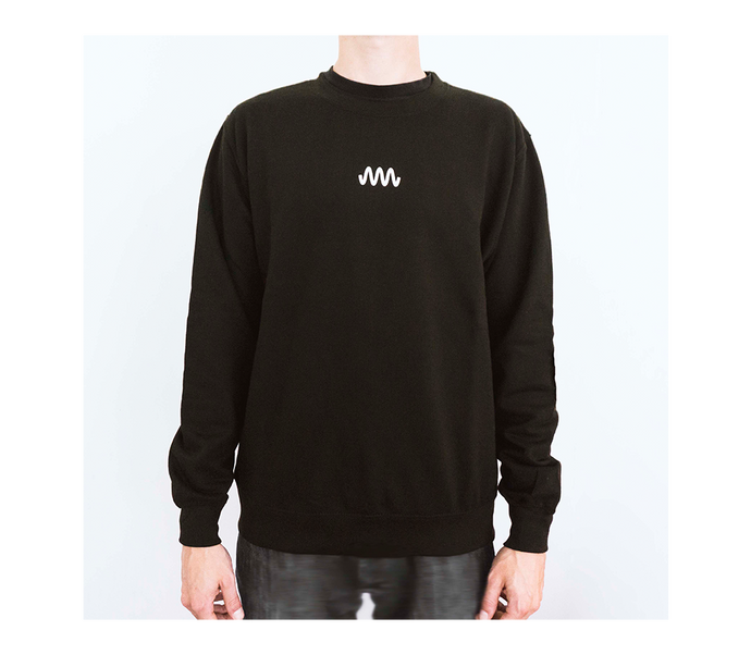 Sweater black / white (front an back print)