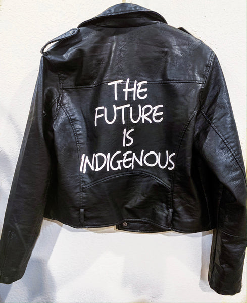 """FUTURE"" Faux Leather Jacket"