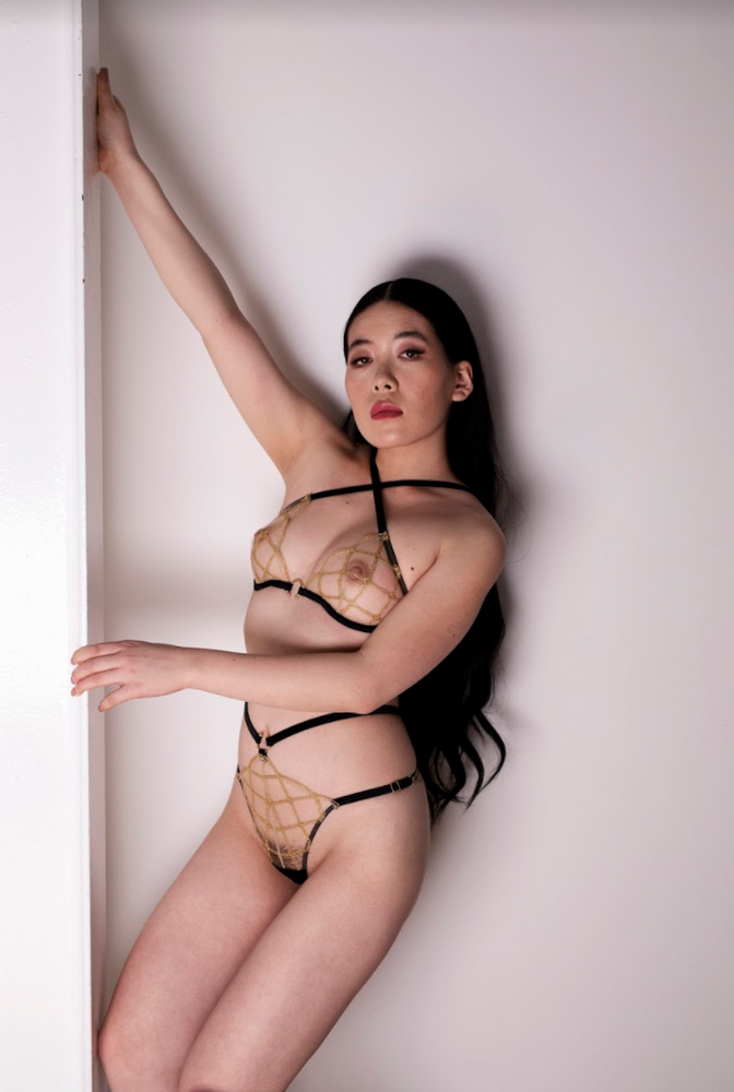 Load image into Gallery viewer, Jalsa Waist Strap Knicker - Shop unique & Luxury lingerie online | Chantilly Affair
