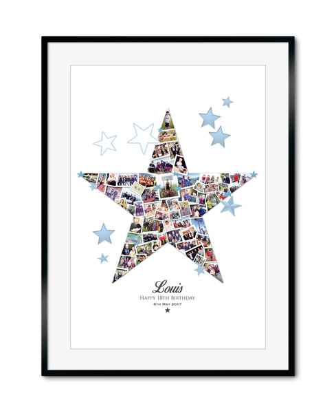 Birthday Star Collage