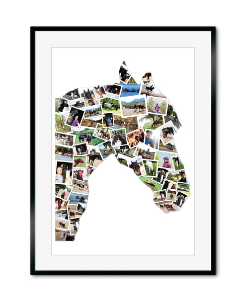 Horse Shape Collage