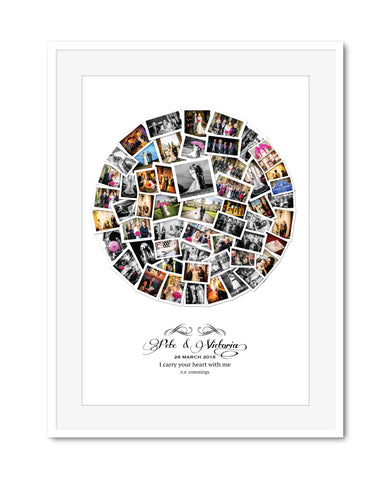 Wedding Circle Collage