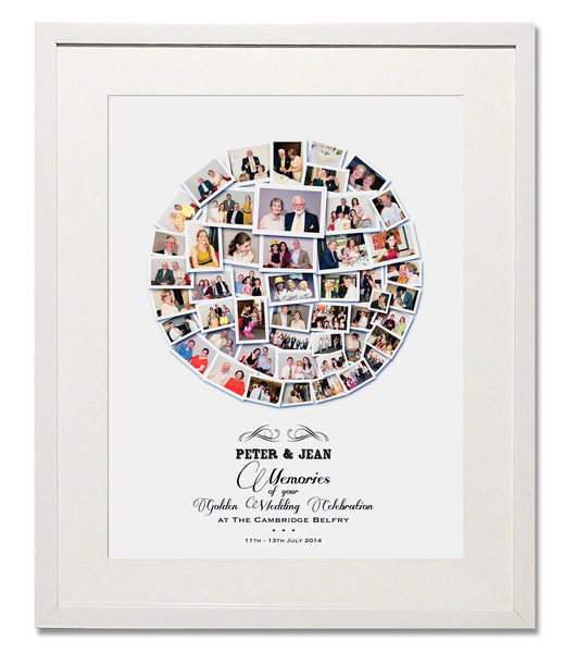 Wedding, Honeymoon & Anniversary Circle Collage - Treasure on the Wall - 1
