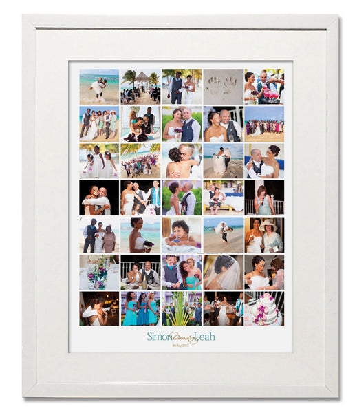 Classic Wedding, Honeymoon & Anniversary Collage - Treasure on the Wall - 1