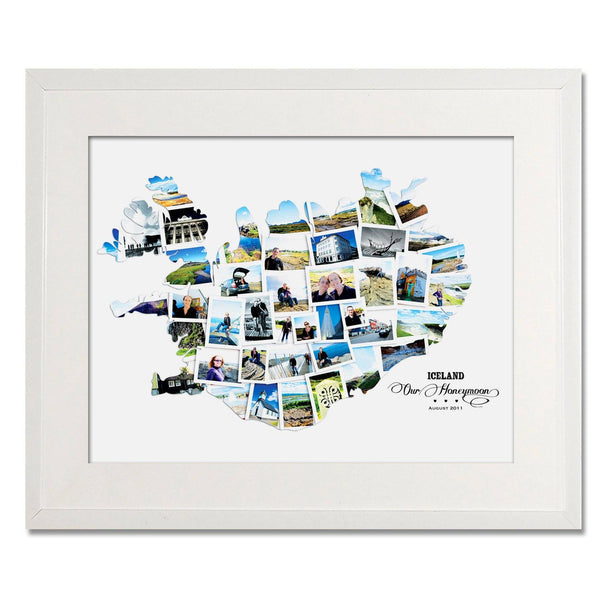 Iceland Wedding, Honeymoon & Anniversary Collage - Treasure on the Wall - 1