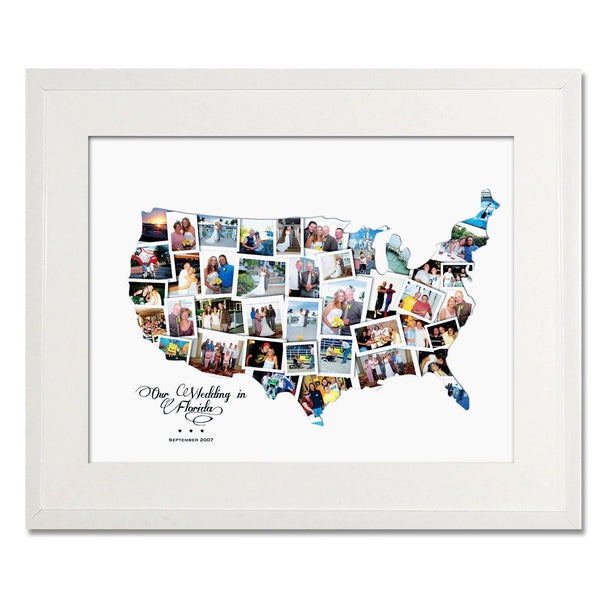 USA Wedding, Honeymoon & Anniversary Collage - Treasure on the Wall - 1