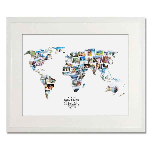 World Wedding, Honeymoon & Anniversary Collage - Treasure on the Wall - 1
