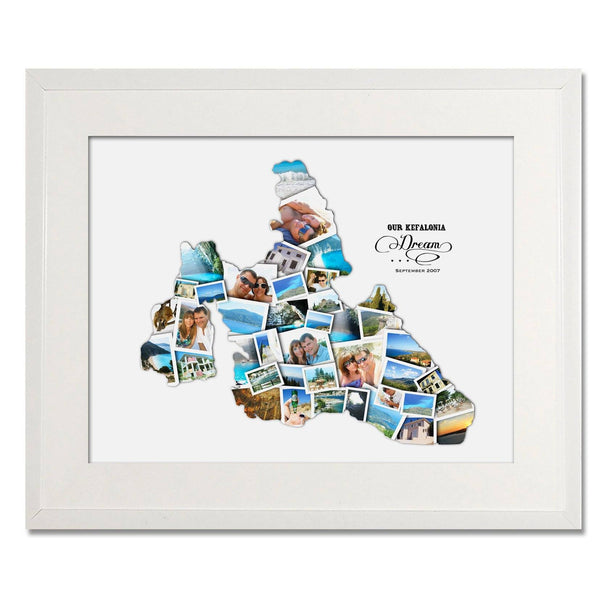 Kefalonia Wedding, Honeymoon & Anniversary Collage - Treasure on the Wall - 1