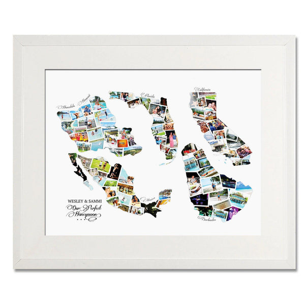 Collection of Countries Wedding, Honeymoon & Anniversary Collage - Treasure on the Wall - 1