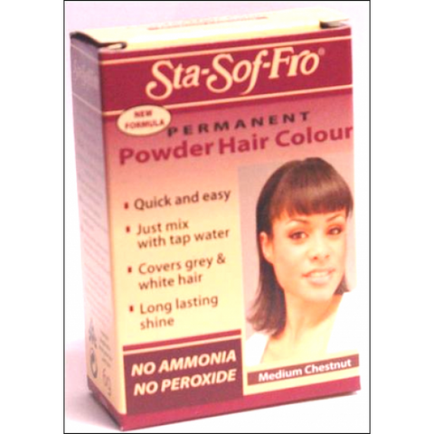Sta sof fro dye powder dye medium chestnut