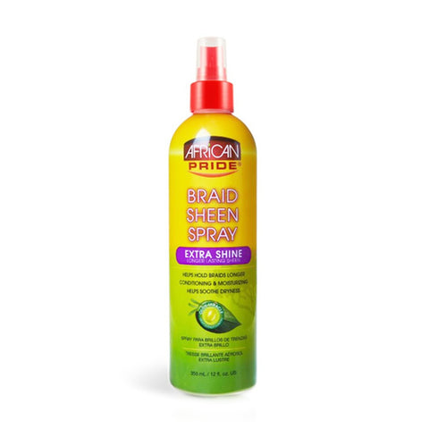 African pride braid sheen spray extra-shine 12 oz