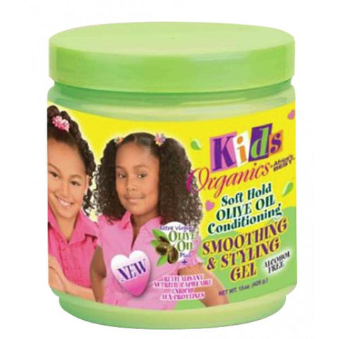 Africa's best kids organics soft hold olive oil smoothing & styling gel