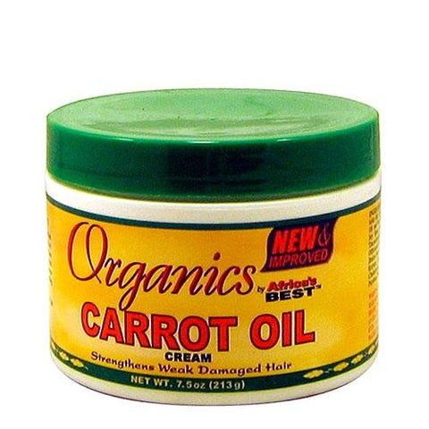 Africa's best organics carrot oil cream jar 7.5oz