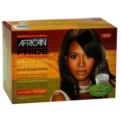 African pride miracle deep conditioning no-lye relaxers regular