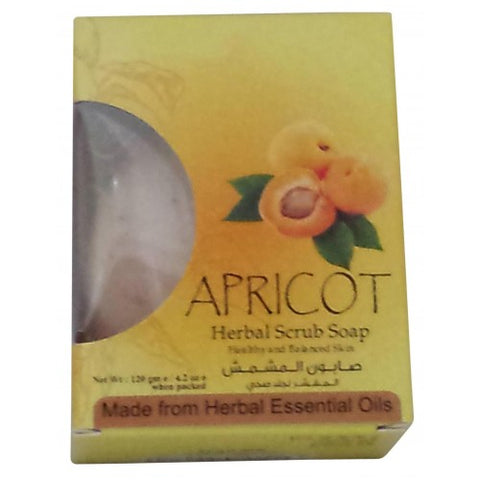 Apricot herbal scrub soap
