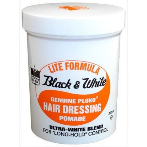 Black & white lite pomade 7oz