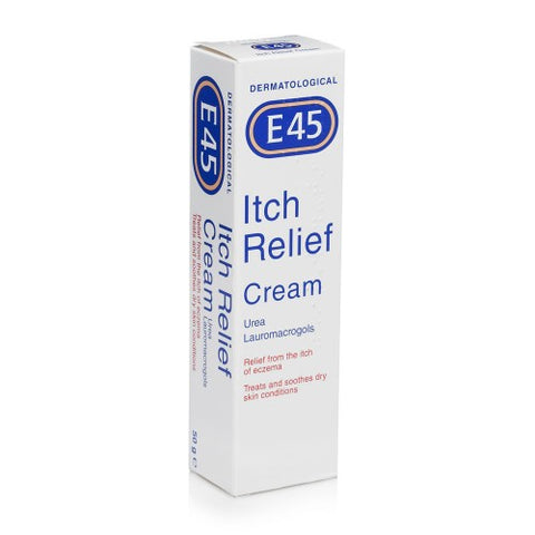 E45 itch relief cream tube 50g