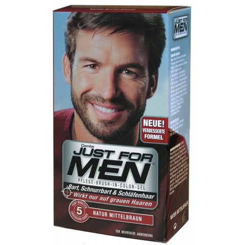 Just for men colur gel for beards, moustaches and sideburns - medium brown m35