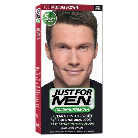 Just for men h35 hair color medium brown