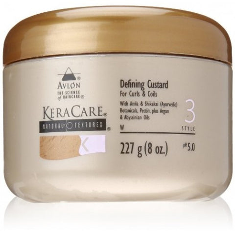 Keracare natural textures defining custard for curls and coils 8 oz