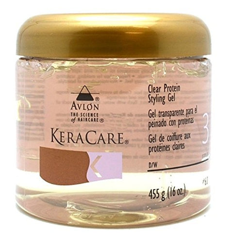 Keracare protein styling gel clear 16oz