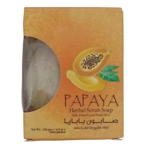 Papaya herbal scrub soap