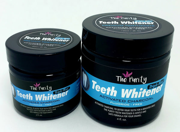 Teeth Whitener with Activated Charcoal - Triple Mint