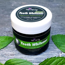 Teeth Whitener with Activated Charcoal- Double Mint
