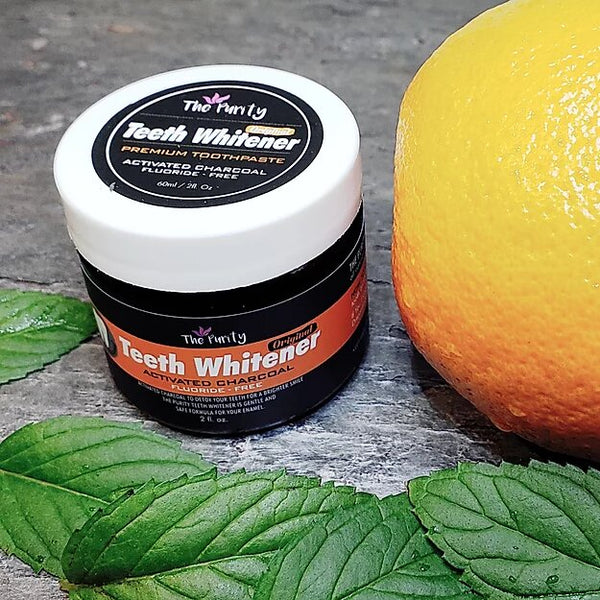 Teeth Whitener with Activated Charcoal - Orange Mint