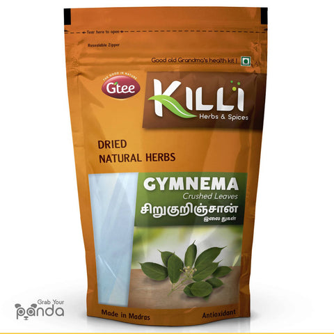 KILLI Gymnema Sylvestre | Sirukurinjan | Madhunashini | Gurmar Leaves Crushed, 100g