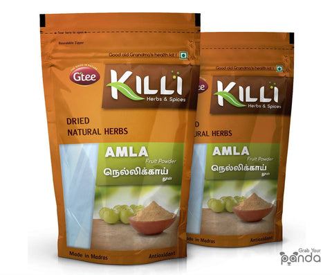 KILLI Amla | Nellikai | Usirikaya | Amalaki Fruit Powder, 100g (Pack of 2)