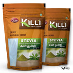 KILLI Stevia | Natural Sweetner | Seeni Thulasi Leaves Powder, 100g (Pack of 2)