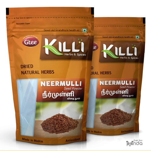 KILLI Neermulli | Marsh Barbel | Hygrophila Auriculata | Kokilaksha Seed Powder, 100g (Pack of 2)