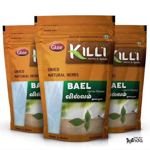 KILLI Bael | Vilvam | Bilva | Maredu | Aegle Marmelos | Bilvapatre Leaves Powder, 100g (Pack of 3)