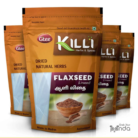 KILLI Flax Seed | Aali | Alsi | Agase, 200g (Pack of 4)