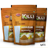 KILLI Aavarampoo | Tarwar | Aavaram | Senna Auriculata | Tangedu Flower Powder, 100g (Pack of 3)